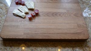 Porządna, drewniana, dębowa, gruba deska do krojenia