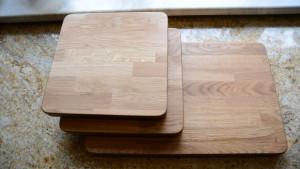 Drewniana deska do krojenia, drewniane podstawki pod garnki