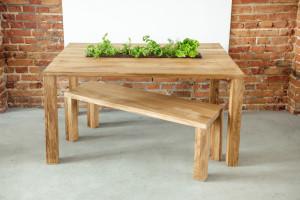 Drewniane stół i ława